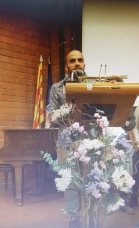 Guillermo, during his speech at the awards ceremony